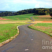 Country Road In France Art Print by Olivier Le Queinec