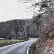 Country Road Take Me Home Photo Art Print