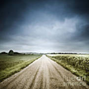 Country Road Through Fields, Denmark Art Print by Evgeny Kuklev