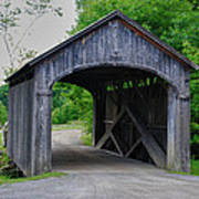 Country Store Bridge 5656 Art Print