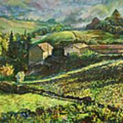 Country Sundown Art Print