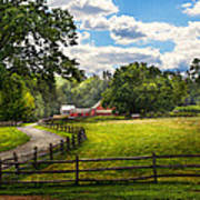 Country - The Pasture  Art Print by Mike Savad
