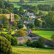 Country Village - England Art Print