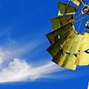 Country Windmill Art Print