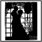 Couple In Love Silhouette Art Print