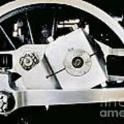 Coupling Rod And Driver Wheels For A Steam Locomotive Art Print