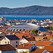 Coupola Sports Hall Landmark In Zadar Art Print