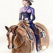 Horse Painting Cowgirl Courage Art Print