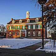 Court House In Winter Time Art Print