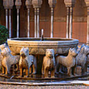 Court Of The Lions In The Alhambra Art Print
