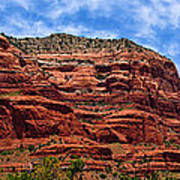 Courthouse Butte Rock Formation Sedona Arizona Print by Amy Cicconi
