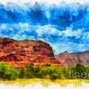 Courthouse Butte Sedona Arizona Art Print