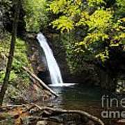 Courthouse Falls In North Carolina Art Print