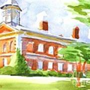 Courthouse In Summery Sun Art Print