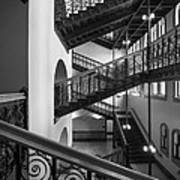 Courthouse Staircases Art Print