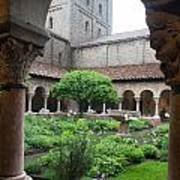 Courtyard At The Cloisters Art Print