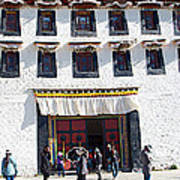 Courtyard Entry To Potala Palace In Lhasa-tibet Art Print