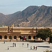 Courtyard Of Amer Fort, Rajasthan Art Print