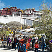 Courtyard Of Potala Palace In Lhasa-tibet Art Print