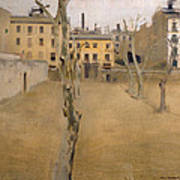 Courtyard Of The Old Barcelona Prison. Courtyard Of The Lambs Art Print