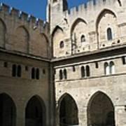 Courtyard - Palace Avignon Art Print