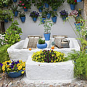 Courtyard With Washing Boards Art Print