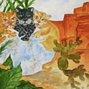 Cousins - Big Cats Art Print