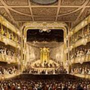 Covent Garden Theatre, From Microcosm Art Print