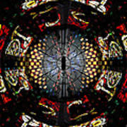 Coventry Cathedral Windows Montage Art Print