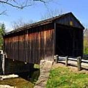 Jediha Hill Covered Bridge In Mt. Healthy Art Print