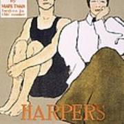 Cover Of Harpers Magazine, 1896 Art Print
