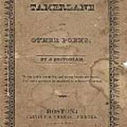 Cover Of Tamerlane Art Print