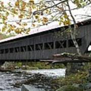Covered Bridge Albany Art Print