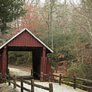 Covered Bridge Art Print by Cindy Rubin