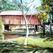 Covered Bridge Newport Nh Art Print