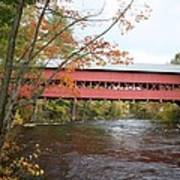 Covered Bridge Over Swift River Art Print