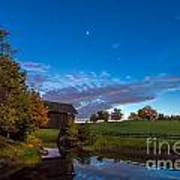 Covered Bridge Under A Vermont Sky Art Print