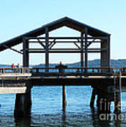 Covered Pier At Port Townsend Art Print