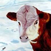 Cow A Bunga Art Print