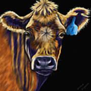 Cow Art - Lucky Number Seven Art Print