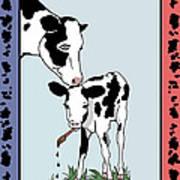 Cow Artist Cow Art Art Print
