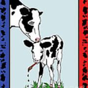 Cow Artist Cow Art II Art Print