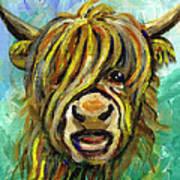 Cow Face 101 Art Print