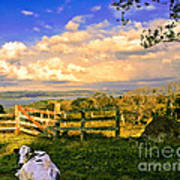 Cow Out To Pasture In Costa Rica Art Print