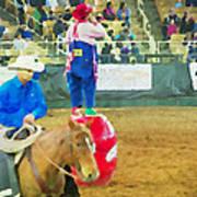 Cowboy And The Clown Art Print