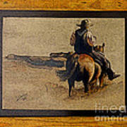 Cowboy Art By L. Sanchez Art Print