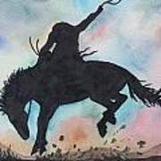 Cowboy Bronco Art Print