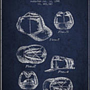 Cowboy Cap Patent - Navy Blue Art Print