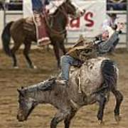 Cowboy Hang On Art Print