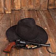 Cowboy Hat And Gun Art Print